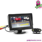 """OrigaMirror"" Wireless Car Rearview Parking Monitor - 4.3"" TFT LCD Display HD"