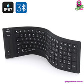 """Innerline"" Wireless Foldable Keyboard - Flexible High Quality Silicone Water"