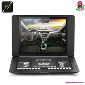 """Plethora"" Portable DVD Player - 15"" TFT LED Screen 16:9 Aspect Ratio Game"