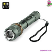 """Hammertwitch"" CREE LED Flashlight - CREE XM-L T6 LED, 1200 Lumens, Hammer Function, Rechargable"