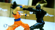 Batman vs Son Gokou!? Wonderful stop motion animation