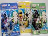 Set of 3 Himitsu Sentai Goranger Rose O'neill Kewpie Kewsion Strap JAPAN ANIME