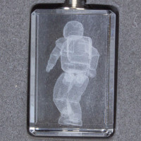 HONDA Asimo Optical Crystal Glass 3D Key Chain JAPAN