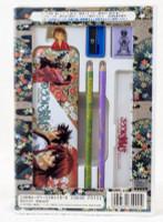 Rurouni Kenshin Stationery Goods Set Pen Case Ruler Eraser Pins JAPAN ANIME