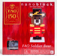 FAO Schwarz 150th Soldier Bear Kawada Nanoblock Nano Block JAPAN FIGURE