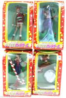 Set of 4 Capcom Christmas Santa Copsplay Figure CHUN-LI MORRIGAN CAMMY JAPAN