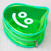 Dragon Quest Slime Clear Color Green Mini Pouch Bag JAPAN GAME WARRIOR