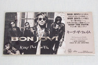 Bon Jovi Keep the Faith 3 inch 8cm JAPAN CD Single HARD ROCK