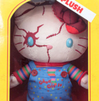"Hello Kitty x Chucky Child's Play 2 Plush Doll 11"" Sanrio USJ JAPAN Limited"
