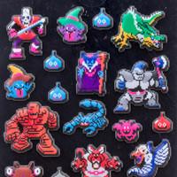 Dragon Quest Dot Monsters Sticker Sheet SQUARE ENIX JAPAN ANIME GAME