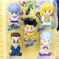 RARE! Hunter x Hunter Mini Mascot Figure 5pc Set Gon Killua Hisoka JAPAN ANIME