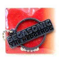 SEGA Logo Metal Plate Ball Chain Sonic The Hedgehog Silver JAPAN GAME