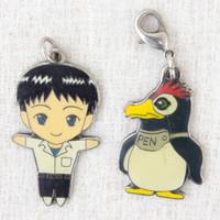 Evangelion Shinji Ikari & Penpen Penguin Metal Charm Set JAPAN ANIME