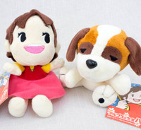 Girl of the Alps Heidi & Josef Mini Plush Doll Set Furyu JAPAN ANIME MANGA
