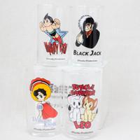 Tezuka Osamu World Tambler Glass 4pc Set Atom Princess Knight Black Jack LEO
