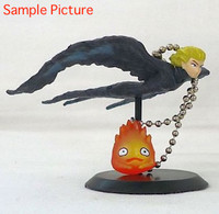 Howl's Moving Castle Bird Howl & Calcifer Figure Key Chain Cominica Ghibli JAPAN