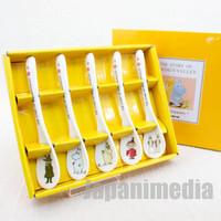 Story of Moomin Valley Chracters Spoon 5pc Set Yamaka JAPAN