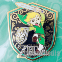 RARE! Legends of Zelda LINK Original Badge Pins Club Nintendo JAPAN FAMICOM