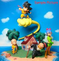 Dragon Ball Z Diorama Figure Set Vol.1 Gokou Krillin Bulma Kame-sennin JAPAN