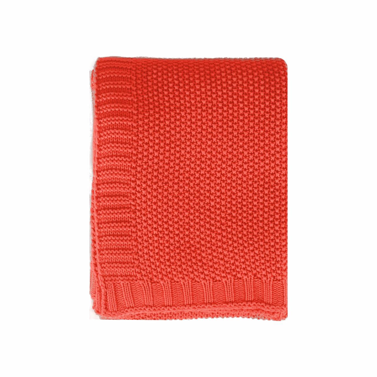 In 2 Linen Chelsea Knitted Throw Rug | Orange