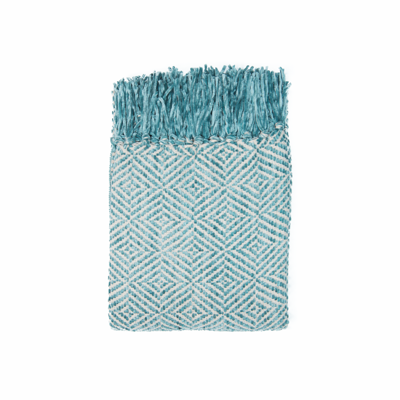 In 2 Linen Stanford Chenille Throw Rug | Turquoise