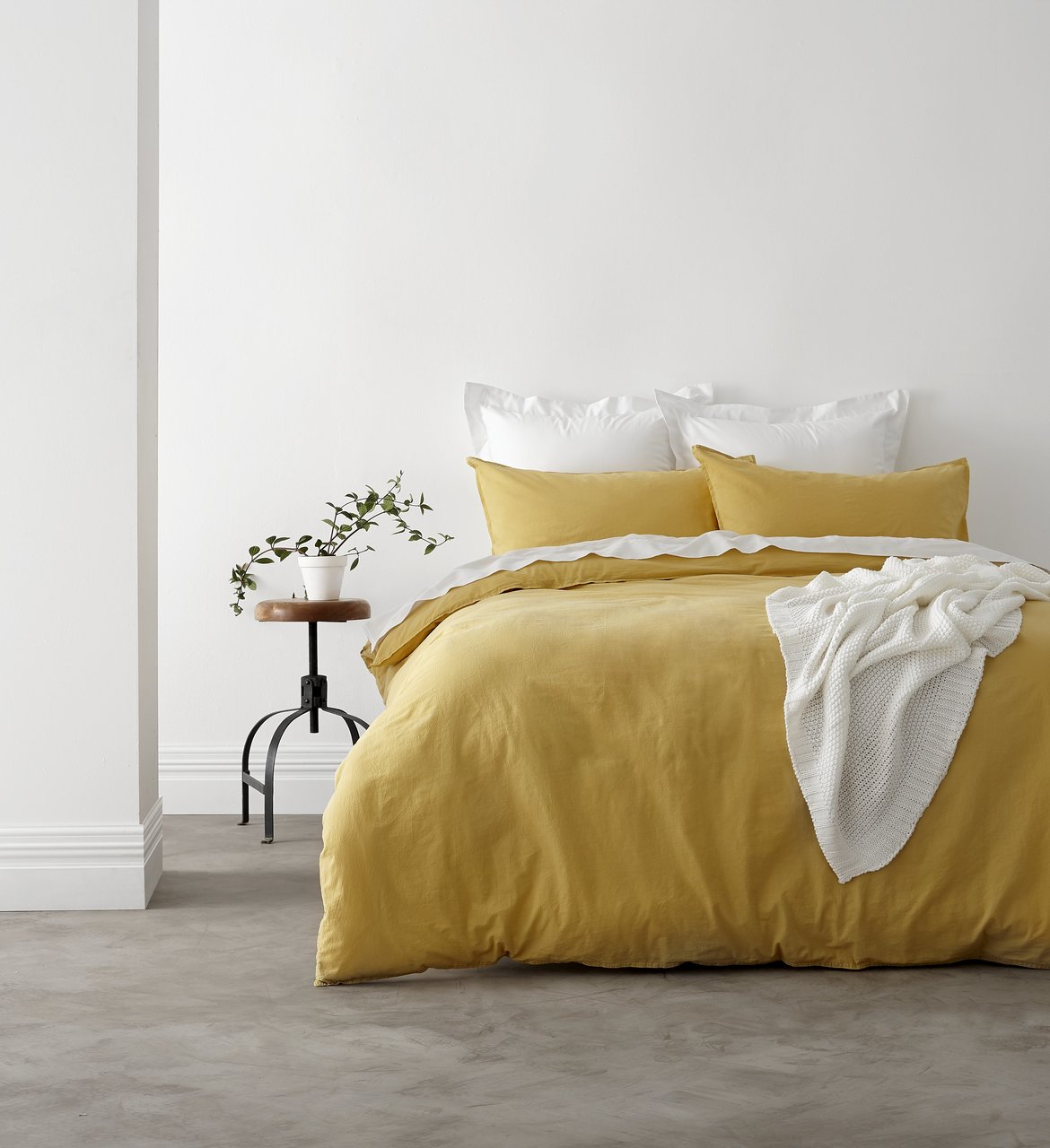 In 2 Linen Vintage Washed King Bed Quilt Cover Set | Mustard ... : yellow quilt cover - Adamdwight.com