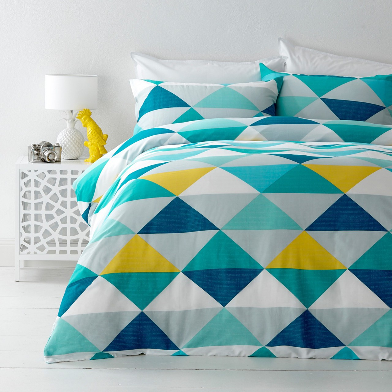 In 2 Linen Tanika Yellow Double Bed Quilt Cover Set - In 2 Linen : double bed quilt - Adamdwight.com