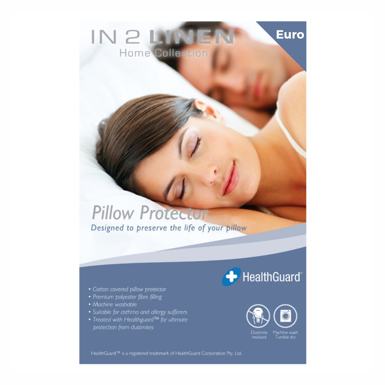 In 2 Linen European Pillow Protector | Cotton Polyester