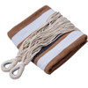 Portable Double Size Canvas Hammock with Spacing Saving Stand includes Carry Bag (Desert Stripe)