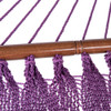 55 inch Double Caribbean Hammock Hand Woven Polyester Rope Outdoor Patio Swing Bed (Purple)