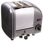 Dualit 27184 2-Scheiben Toaster anthrazit glänzend