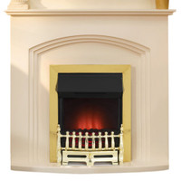 Adam Truro Ivory with Ribbon Brass Electric Fire