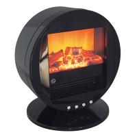 Lloytron Retro Living Flame Oscillating Electric Fire - Black