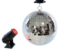 Lloytron Rotirende 20 cm Diskokugel und Projektor Lampe