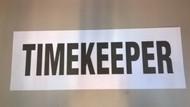 "Sign ""Timekeeper"""