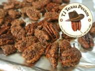 TJ Texas Pecans Sweet n Spicy Flavor in one pound resealable bag