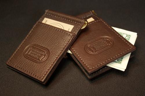 Buffalo Hide Money Clip Card Holder