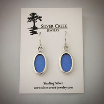 Sterling Silver and Blue Morpho Butterfly Wing Earrings