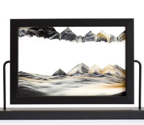 Black Window Sandpicture