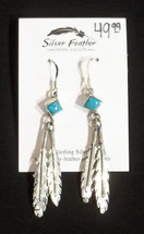 Tq Feather Earrings 42-1068