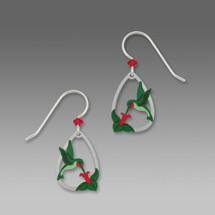 Hand Painted Hummingbird Earrings