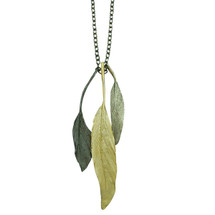 "Tri-tone 20"" feather necklace"