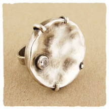 Sterling silver and CZ ring