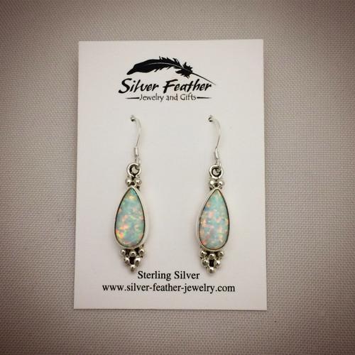Cultured Opal Earrings