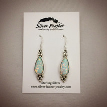 Cultured Opal Earrings