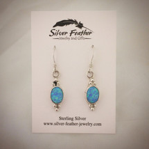 Opal and Sterling Silver earrings