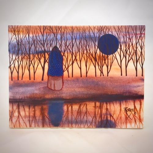 """A Blue Reflection"" by Jeanne Rorex Bridges"