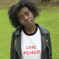 Girl Power T-Shirt (S/M, Black ringer)