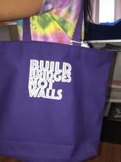 Build Bridges Not Walls (Purple Bag)