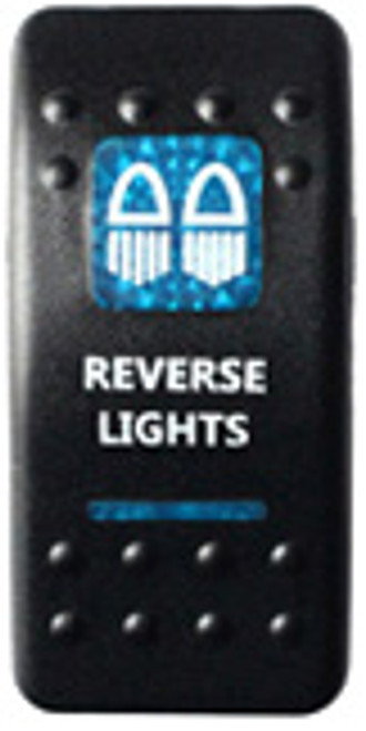 Reverse Lights Rocker Switch (Blue)